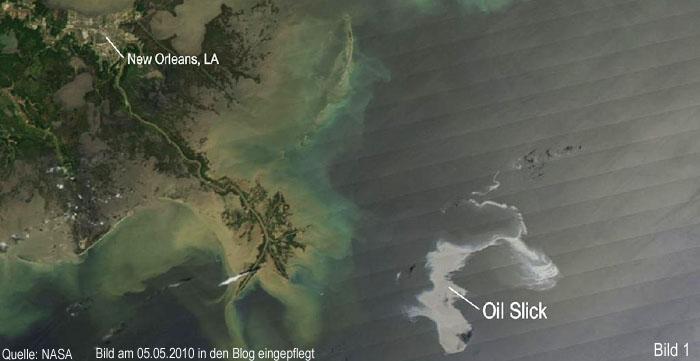 Umweltkatastrophe am Golf von Mexiko, Ölteppich, New Orleans