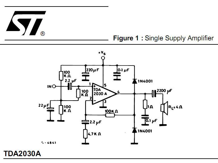 Схема питания усилителя на tda2030